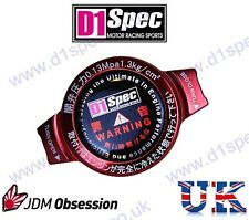 D1 SPEC RACING RADIATOR CAP 1.3kg/cm RED SMALL HEAD JDM DRIFT nitroXukimport