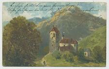 schöne alte Künstler-AK - Haus-Landschaft (E840)