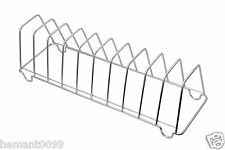 KCL Stainless Steel Plate Stand rack holder - 10 plates compartment