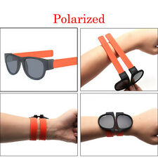 Unisex UV400 Polarized Folding Bracelet Glasses Creative Sunglasses Fashion Funn