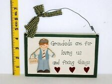 Grandads Wall Plaque Sign Gift Ideas For Him Man Men Grandparents Christmas