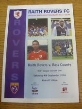04/09/2004 Raith Rovers v Ross County  . Thanks for viewing our item.  Any notic