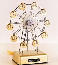LED LIGHT GOLD FERRIS WHEEL ROTATE MUSIC BOX