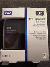 WD 3TB My Passport For Mac Portable External Hard Drive - USB 3.0 -