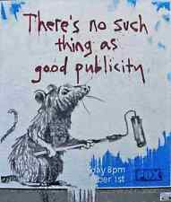 Banksy There Is No Such Thing As Bad Publicity A3 Sign Aluminium Metal Large