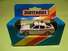MATCHBOX MB8 ROVER 3500 - POLICE  -  WHITE 1:60? - NM IN UNOPENED BOX