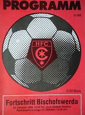 Programm 1989/90 HFC Chemie - Bischofswerda