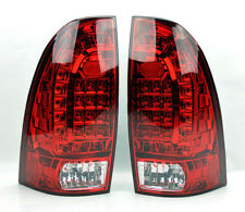 Toyota Tacoma 05-14 LED Rear Tail Lights Red Clear Pair RH LH