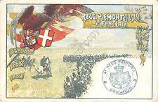 Cartolina - Reggimentali - 4° Reggimento Fanteria Brigata Pemonte