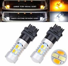 2x Dual-Color Switchback 3157 20-SMD-5730 LED Bulbs Turn Signal light High Power