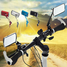 1 Pair Aluminum Bike Bicycle Rearview Handlebar End Rear Back View Mirror Glass