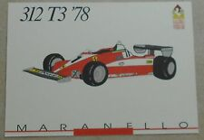 FERRARI Galleria 1993 312t3 f1 1978 Scheda Card brochure prospetto book libro Press