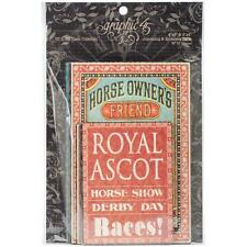 "Graphic45 Off to the Races Ephemera Cards 32/ Pkg 6x4"" 4x3"" Notizkarten 32 St."