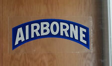 US Army Decal / Sticker / AIRBORNE ( Inside Of Glass Application )