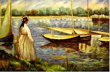"""Edouard Manet Replica Oil -The Banks of the Seine at Argenteuil  - size 36""""x24"""""""