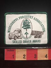 Mississippi Forestry Association Skilled Driver Award Trucker Truck Patch 66UU