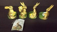 Bethany Lowe Set of 4 Tin Easter Egg Cups With Bunnies Vintage Look