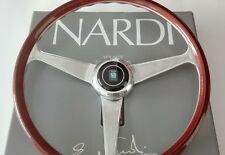 "NARDI ANNI 60 steering wheel mahogany with ""guilloche"" glossy spokes size 380 mm"