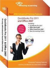 Learn QuickBooks Pro/Premier 2011 Tutorial Training CD Bundle with Office 2007