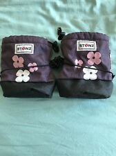 Stonz Booties Baby Girls Size Small S Purple Floral Pink Snow Boots 0-6 Months 4
