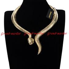 Fashion Jewelry Snake Chain Collar Choker Chunky Statement Pendant Bib Necklace