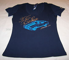 Ford Falcon XC Cobra Ladies Navy Blue Printed V Neck T Shirt Size 10 New