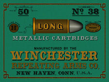"""24"""" X 18"""" Reproduced Vintage Winchester .38 Cal Ammo Print on Graphic Canvas"""