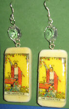 """THE MAGICIAN"" -TAROT CARD EARRINGS- HAND CRAFTED"