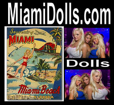 Miami Dolls .com Sport Girls Toy Bobble Doll For Sale Domain Name Website URL