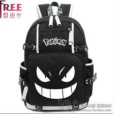 Pokemon Go Gengar Backpack Black Schoolbag Computer Bag Bookbag Travelbag Otaku
