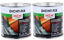 2 Lattine sealfix GUARNIZIONE FIX dicht-fix IMPERMEABILE incollare 375ml muro Tetto Grondaia SEALER