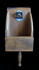 VINTAGE OLD WOODEN SCOOP/BOTTLE OPENER Country Store Decor Wood Scooper
