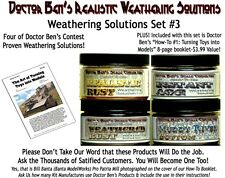 4-JAR Weathering Solution SET #3 w/How-To-Booklet-Doctor Ben's Craftsman  PPA01