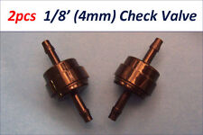"2xPCS 1/8"" (4mm) Inline Check Valve Fuel Gas Air Ink Liquid One Way Non Return"