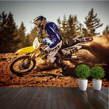 WALLPAPER MOTORCROSS DIRTBIKE MOROTCYCLE WALL PAPER 300cm wide 240cm tall WMO032