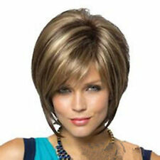 HE-J0245 fancy short brown mix blonde wigs for  women wig
