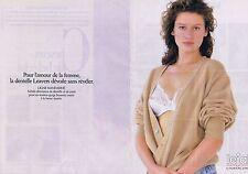 Publicité Advertising 016 1988 Lejaby   soutien-gorge  (2 pages) 1