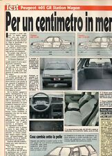 SP20 Clipping-Ritaglio 1989 Peugeot 405 GR Station Wagon