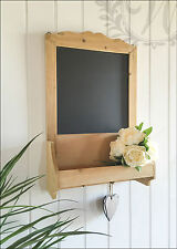 Chalk Board Wall Vintage Shabby Chic Message kitchen Notice Rustic Hooks Storage