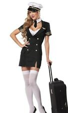 NEW LADIES SEXY AIR HOSTESS STEWARDESS PILOT HEN DOO FANCY DRESS PARTY OUTFIT