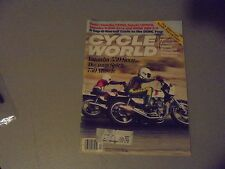 APRIL 1981 CYCLE WORLD MAGAZINE,YAMAHA 550 SECA,DAYTONA SPIRIT,SUZUKI GS1100,AMA