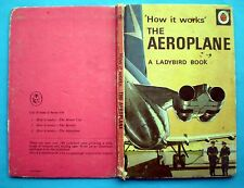 The Aeroplane Ladybird vintage book history How It Works engine flight helicopte