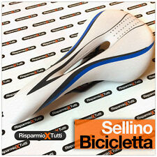 SELLA BICI CORSA ANTIPROSTATA ANTI PROSTATA SELLINO MOUNTAIN BIKE MBK BIANCO BLU
