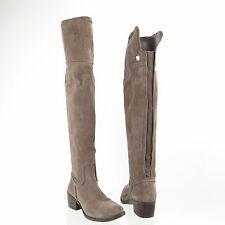 Women's Vince Camuto Baldwin Shoes Gray Suede Tall Knee High Boots Size 4.5 M