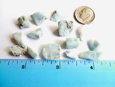 14pc NATURAL LARIMAR from the Dominican Republic11.85g DOLPHIN/ATLANTIS STONE 11