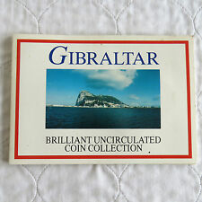 GIBRALTAR 1993 9 COIN BRILLIANT UNCIRCULATED COLLECTION WITH £5 - sealed pack