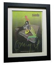 SUEDE+Coming Up+ALBUM+POSTER+AD+RARE ORIGINAL 1996+FRAMED+EXPRESS GLOBAL SHIP