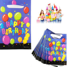Plastic Loot Bags Happy Birthday Kid's Party Bag Filler Gift Present Pack of 16
