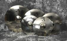 "Zildjian A Custom Box Set Cymbal Pack A20579 14"" Hats 16"" & 18"" Crashes 20"" Ride"