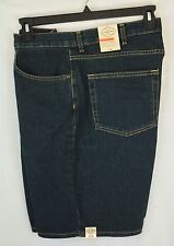 NEW W/TAG MENS $34 ST. JOHNS BAY DARK STONEWASH DENIM SHORTS SIZE 40